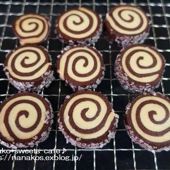 チョコのくるくるクッキー
