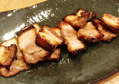 素麺に合わせたよ。豚バラグリル焼き。