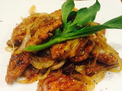 豚レバー生姜焼き