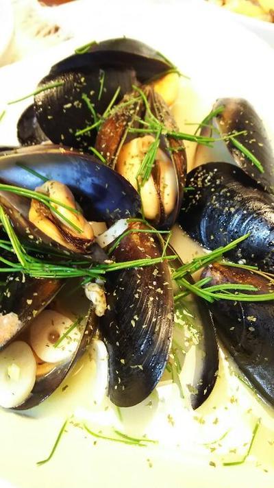 きのうのおつまみ  しゅうり貝のワイン蒸し