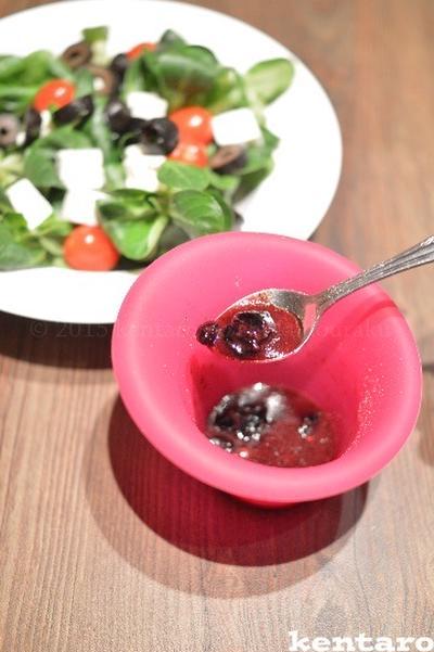 【フレッシュブルーベリーのベネグレット】食べきりの 自家製ドレは ローカロリー