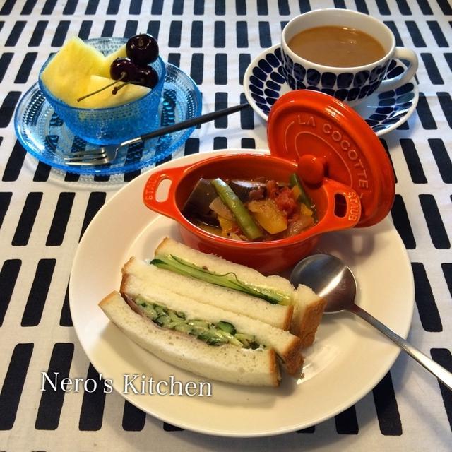 サンドイッチとラタトゥイユ♪