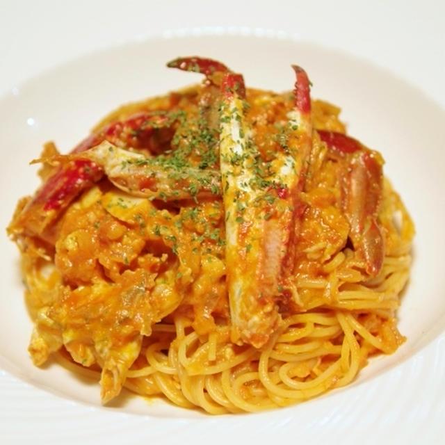 渡り蟹のトマトクリームスパゲッティー