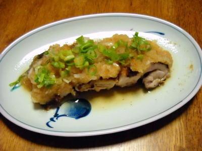 鶏のおろししぎ焼き