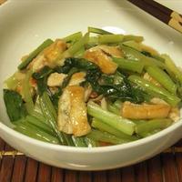 小松菜と油揚げのさっぱりソテー