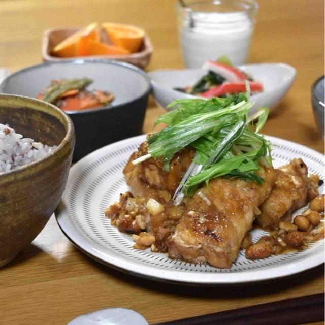 【厚揚げの肉巻き甘酢ダレ】#肉巻き#簡単#スピードおかず …遅めの晩ごはん、朝ごはん、お弁当
