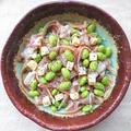 史上最強レシピ、1分で簡単ミミガーと枝豆とチーズの黒胡椒がけ