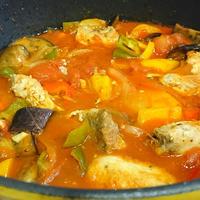 抗酸化野菜をたっぷり♪パプリカとカジキマグロのトマトスープ♪