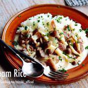 ♡生クリーム不要♡豚肉ときのこのクリームライス♡【#フライパン#簡単#丼】