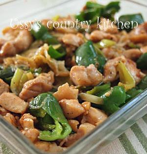 クミン香る鶏もも肉と野菜の炒め物