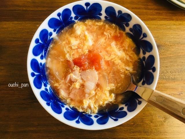 中華風トマ玉スープ