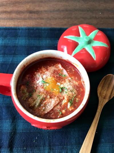 【簡単!マグカップスープ】落とし卵のトマトスープ*デルモンテさんのキャンペーンのお知らせ
