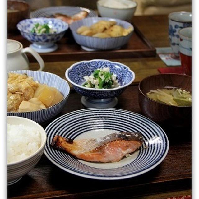 鮭の塩麹焼き&ふくされんこんと根菜の炊き合わせ*和食