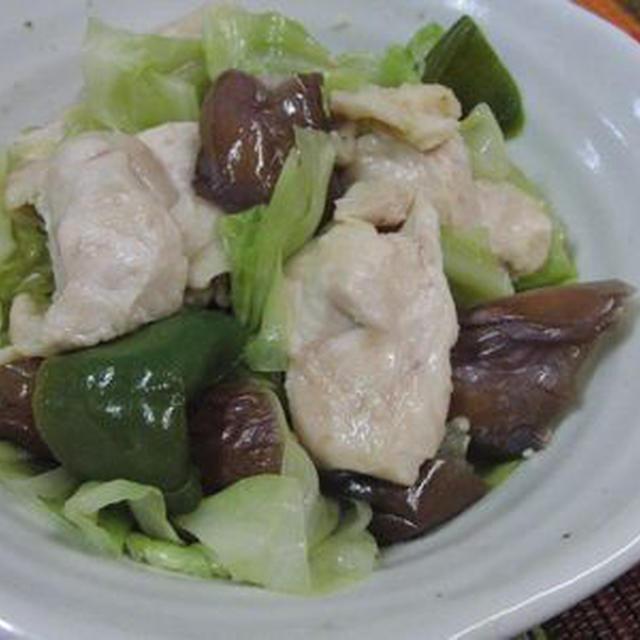 野菜はうまうま肉はしっとり♪ 鶏と野菜のちょい醤油蒸し