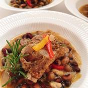スペアリブとお豆の煮込み