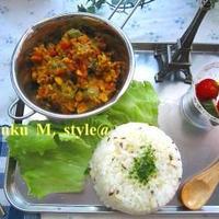 野菜タップリ!キーマカレー&クミンライス