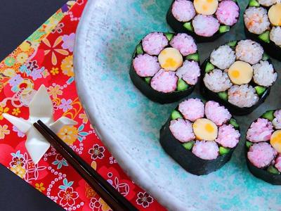>【動画】飾り巻き寿司 梅の花の作り方レシピ by 和田 良美さん