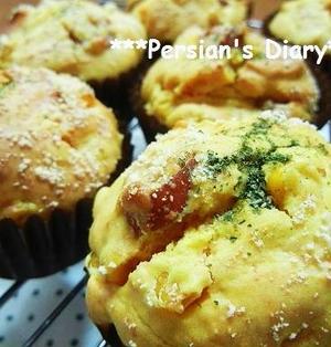 ホットケーキミックスで簡単!黄色いお食事マフィン♪