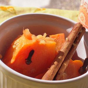 柿のコンポートレモンジンジャー風味