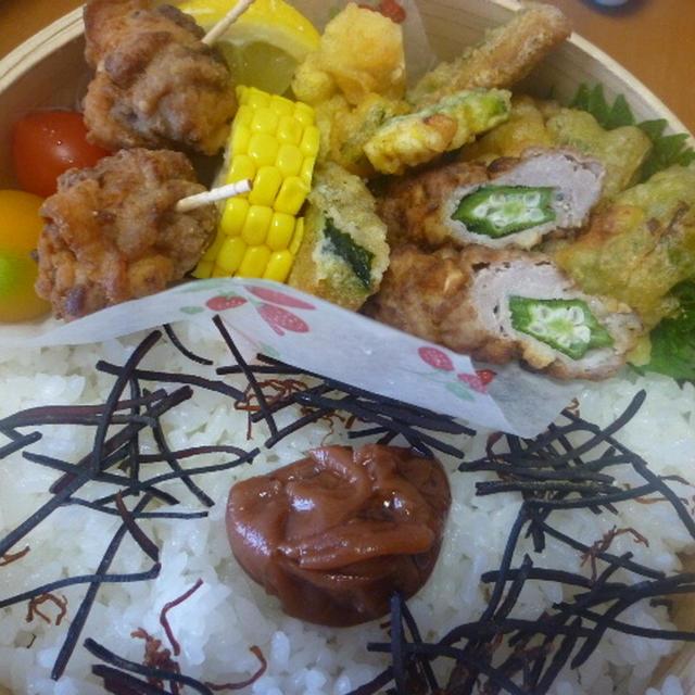 オクラ巻肉と夏野菜弁当★