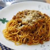 スパイシーカレーのミートスパゲティー