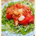 【すりおろしトマトの冷製エビチリ】