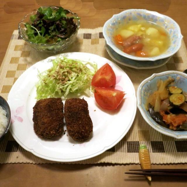 やまがきのミンチカツ と 帆立味のお菓子『瑤柱酥』