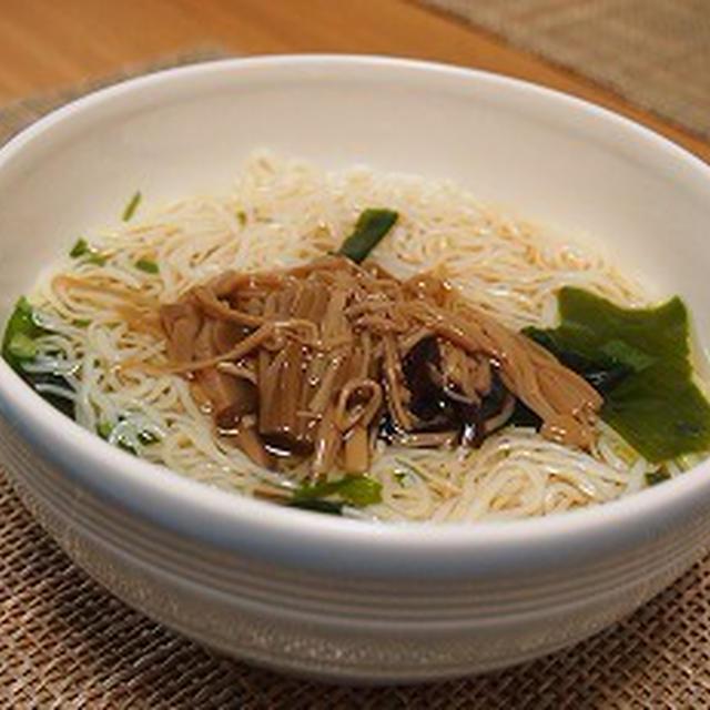 ■メニュー■棒々鶏、大根とばってんあげの煮物、梅ひじきのポテサラ、若布と豆腐のスープ*7月1日