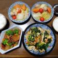 【家ごはん】 豚肉入り青菜炒め と スルメ大根