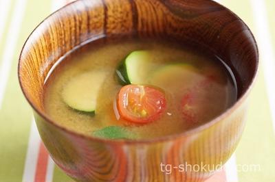 ズッキーニとミニトマトの味噌汁【中性脂肪を下げるレシピ】