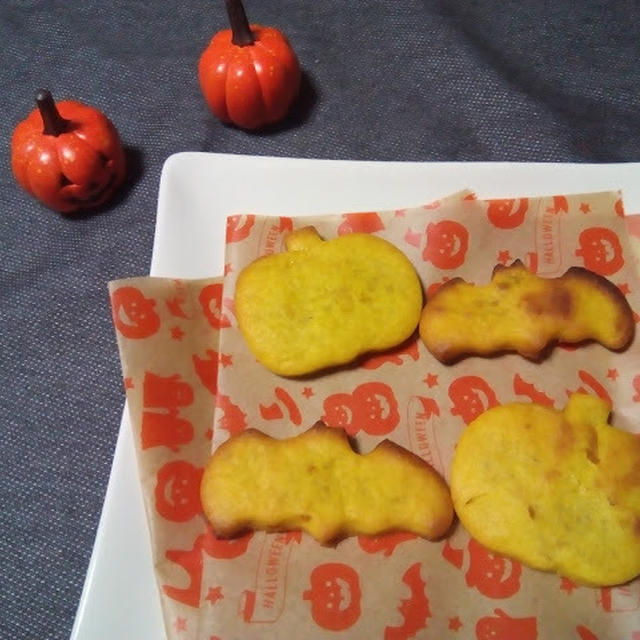 オーブントースターでハロウィン☆ジンジャーパンプキンクッキー
