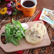 朝ごはん*おいしいチーズが楽しみな朝ごはん、ちょっとお急ぎ。