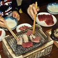 お刺身(マグロ・カツオ)の炭火焼