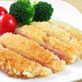 チーズ風味のハムカツ☆お弁当にも♪