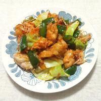 キャベツで、ヤンニョムチキン風野菜炒め