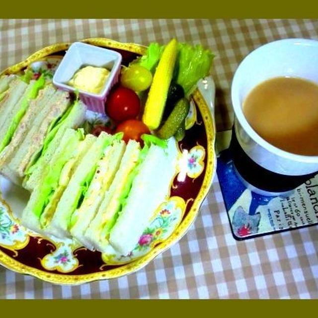:今朝のサンドイッチプレート