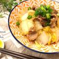 食材2品で☆白菜と豚肉のごま味噌あんかけ