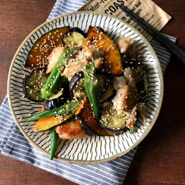【簡単!!夏野菜レシピ】鶏と夏野菜のめんつゆポン酢
