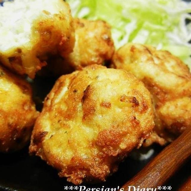 豆腐のふんわり揚げ♪~ガーリックオニオン風味~