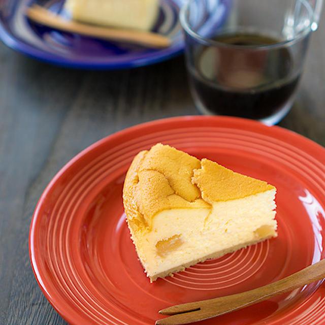 自家製サワークリームのサクふわスフレチーズケーキ