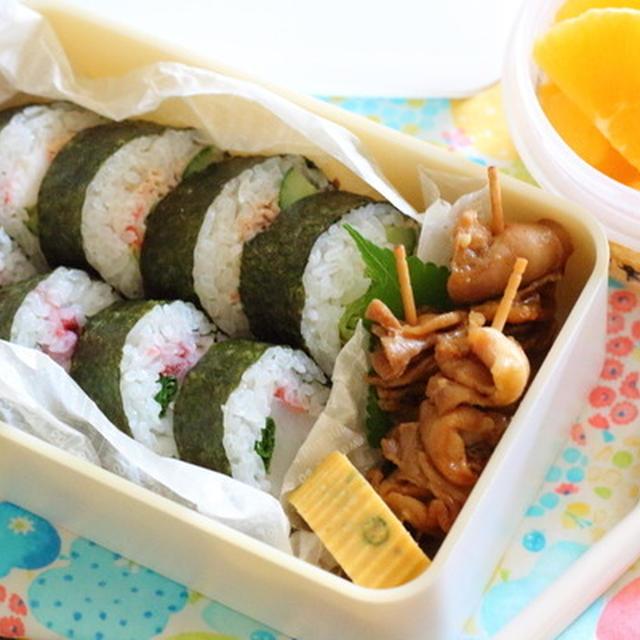 食欲減退気味の時でも食べれる【巻き寿司】弁当