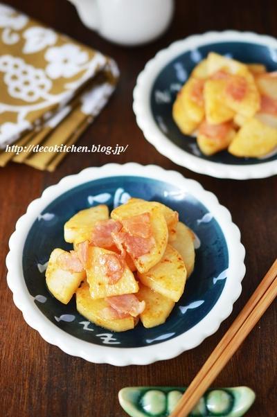 ササっとできる小さなおかず「長芋とベーコンの柚子胡椒炒め