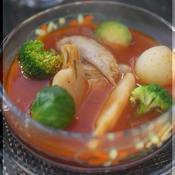 手羽先の簡単トマトスープ