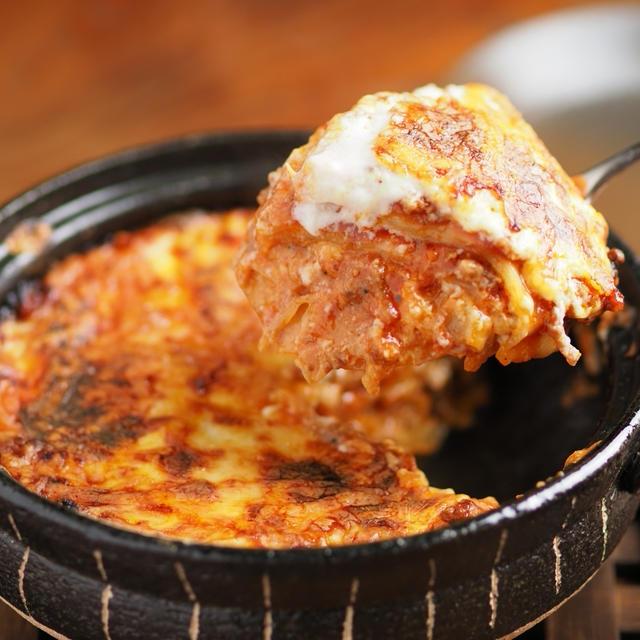 餃子の皮と土鍋でラザニア風、簡単、コスパ良しでパーティ料理にもおすすめ!作り方動画