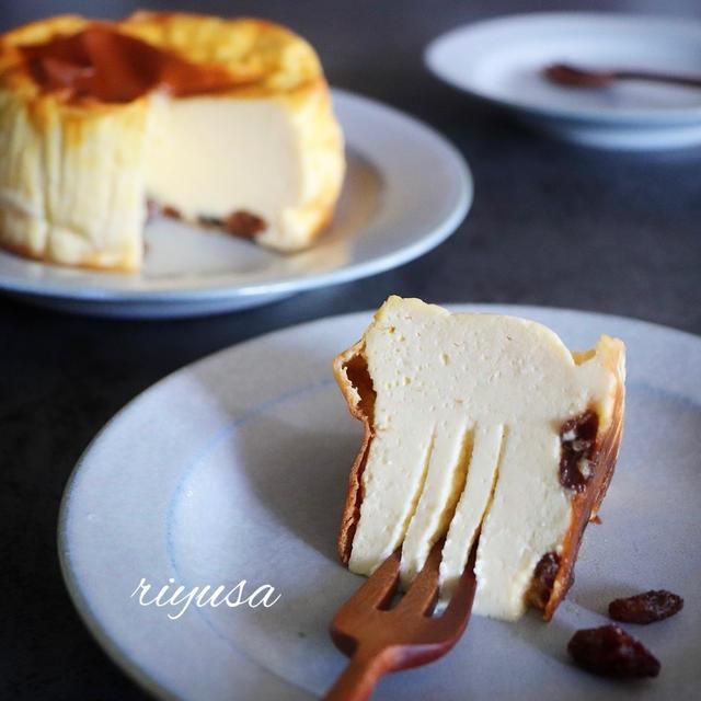【癒しのおやつ】レーズンのベイクドチーズケーキ