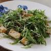 水菜としらすと厚揚げのサラダ