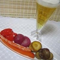 エリンギと野菜のマリネステーキ