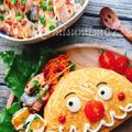 カレー炒飯でカレーパンマンオムライス by Misuzuさん
