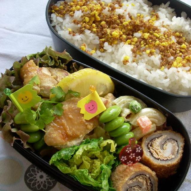 鶏肉のオイマヨ炒めのお弁当