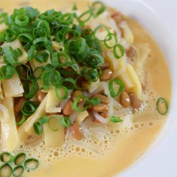 Diet*白滝で納豆と筍のミルクスープスパ/普通二輪教習